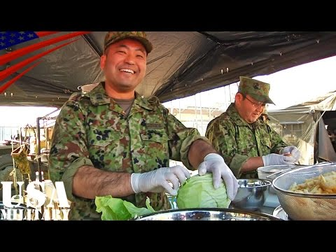 料理対決! 陸上自衛隊vs米陸軍 アイアンシェフ - Cooking battle! U.S. Army vs Japan Ground Self-Defense Force - Iron Chef
