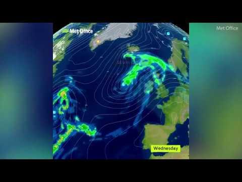 Met Office: Winds strengthen across UK as Storm Caroline develops