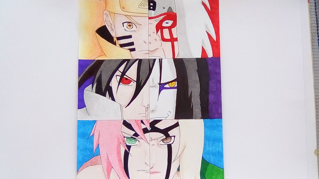 speed drawing jiraiya tsunade and orochimaru naruto