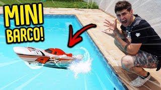 Testei meu mini barco na piscina !! ( incrÍvel ) [ rezende evil ]