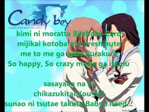 candy boy ona ed full song/candy boy ona full ending (lyrics/letra)