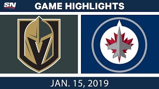 NHL Highlights | Golden Knights vs. Jets - Jan. 15, 2019