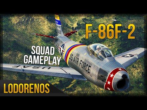 War Thunder: F-86F-2 Top Tier Realistic Jet Match
