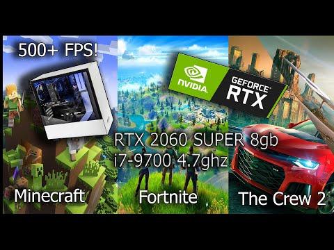 ✔️Testing Games with RTX2060SUPER & i7-9700 ! Minecraft,Fortnite,The Crew 2,GTA V  🔥  