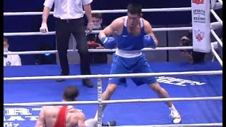 Чемпион мира из Казахстана «базукой» отправил россиянина настил и выиграл «золото» Санкт-Петербурга