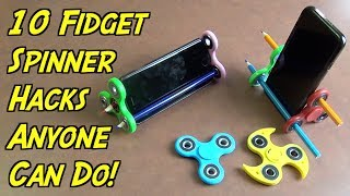 10 Fidget Spinner Hacks Anyone Can Do - HOW TO HACK - Fidget Spinner Giveaway | Nextraker
