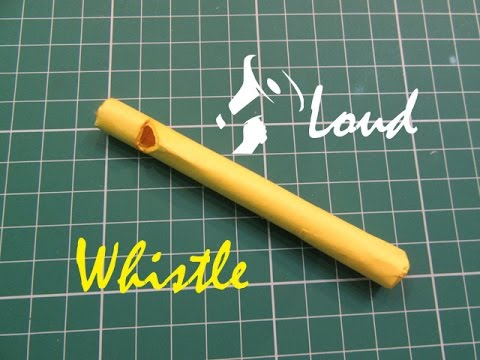 How to Make a Simple Paper Whistle - Easy Tutorials