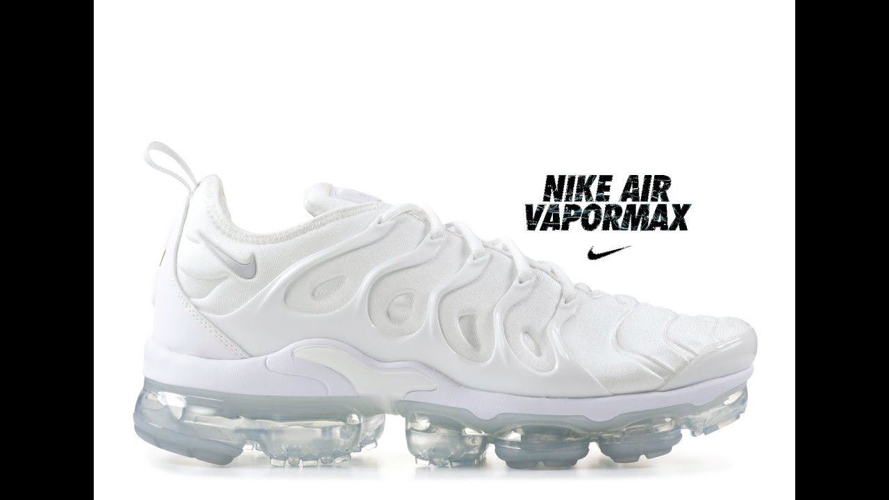 15a32327525ae NIKE Men s Air Vapormax Plus Shoe 924453 100 White Pure Platinum ...