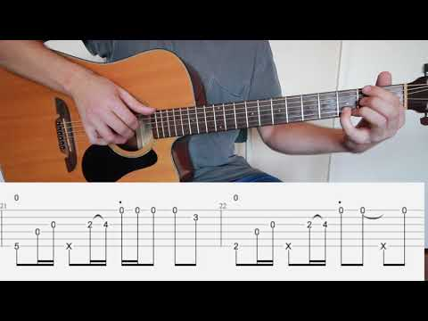 Sunflower (Post Malone & Swae Lee) fingerstyle guitar tutorial with tabs