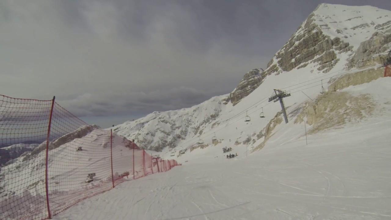 """test ski slope """"skripi"""" kanin-bovec, slovenia march 2017 - youtube"""