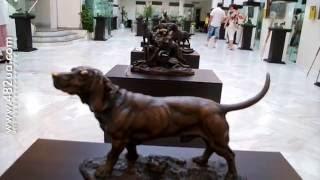 Охотничьи собаки, выставка скульптур, картин и фото, галерея АВЭК,