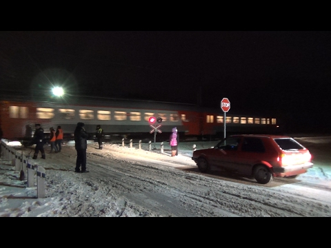 ДТП на железнодорожном переезде в Калининграде