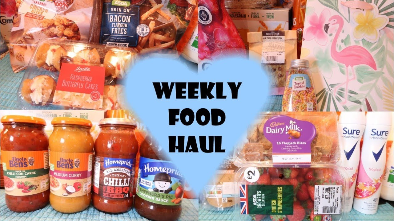 Asda Haul July 2020 Weekly Food Haul & Grocery Haul | UK Family of Two | Meal Plan Ideas & Shopping