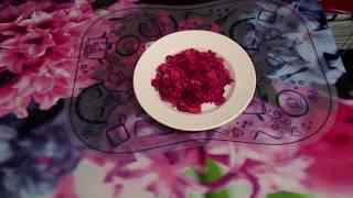 Вкусный и полезный салат из свеклы с фасолью