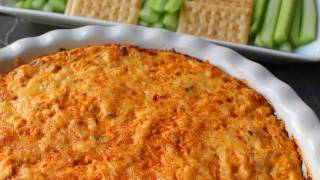 Buffalo Chicken Dip! Spicy Baked Buffalo Chicken Dip - Super Bowl Party Special