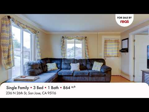 For Sale: 236 N 26th St, San Jose, CA 95116