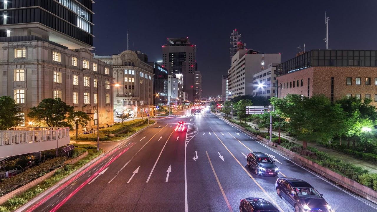 【4K】 神戸 ハーバーランド 夜景 タイムラプス 動画 / Kobe Japan Time Lapse 2017