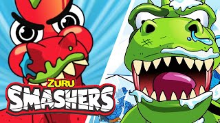 Blizzardactyl Outmaneuvers The Competition! | All Episodes of Series 3! | SMASHERS! | TV For Kids!