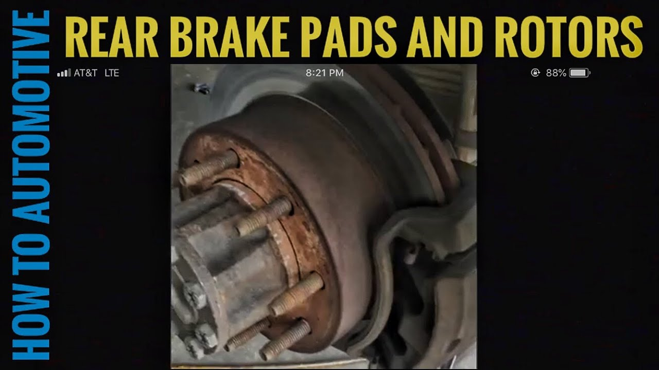 how to replace rear brake pads  [ 1280 x 720 Pixel ]