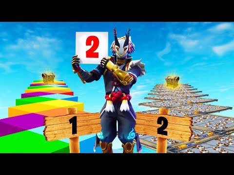 Scoreboard DECIDES Which DEATHRUN YOU DO! (Fortnite)