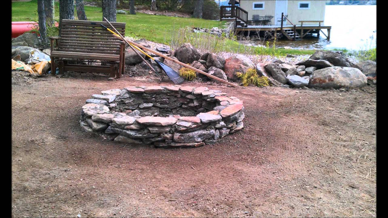 Building a stone fire pit (Cody Home Improvement) - YouTube