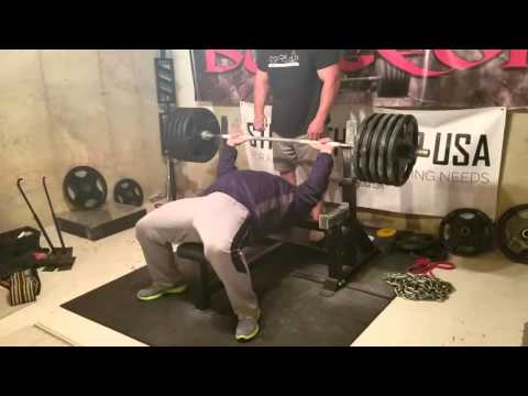 495 Lb X 6 Reps Raw Bench Press