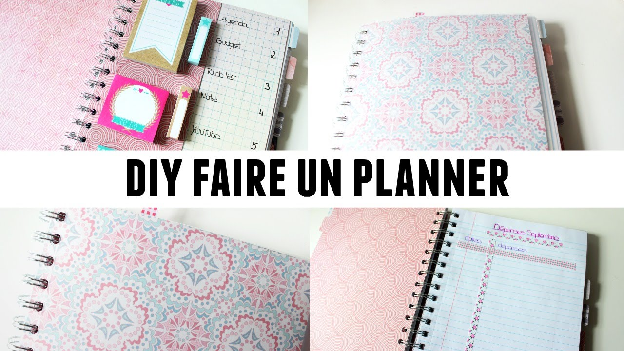 diy faire un planner youtube. Black Bedroom Furniture Sets. Home Design Ideas