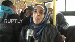 Syria  Buses take civilians back to liberated eastern Aleppo