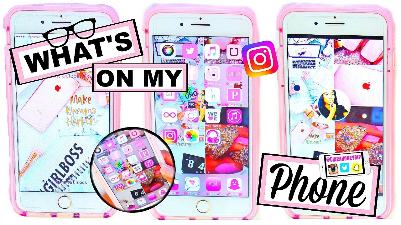 What S On My Iphone 7 Plus Rose Gold Cute Icon Wallpaper Hacks Make Your Apps Look Cool Youtube