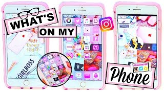 What's On My iPhone 7 Plus Rose Gold?! + Cute Icon & Wallpaper HACKS! | October 2016