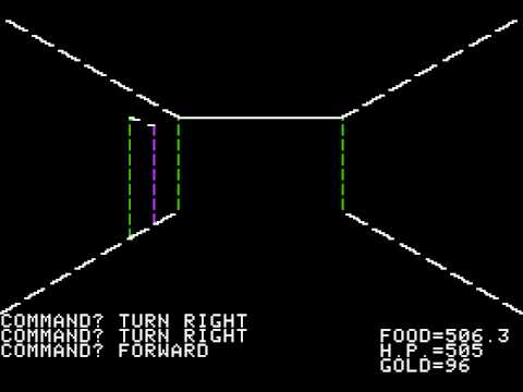 Apple II Game: Akalabeth - World Of Doom (1980 California Pacific Computer Co.)