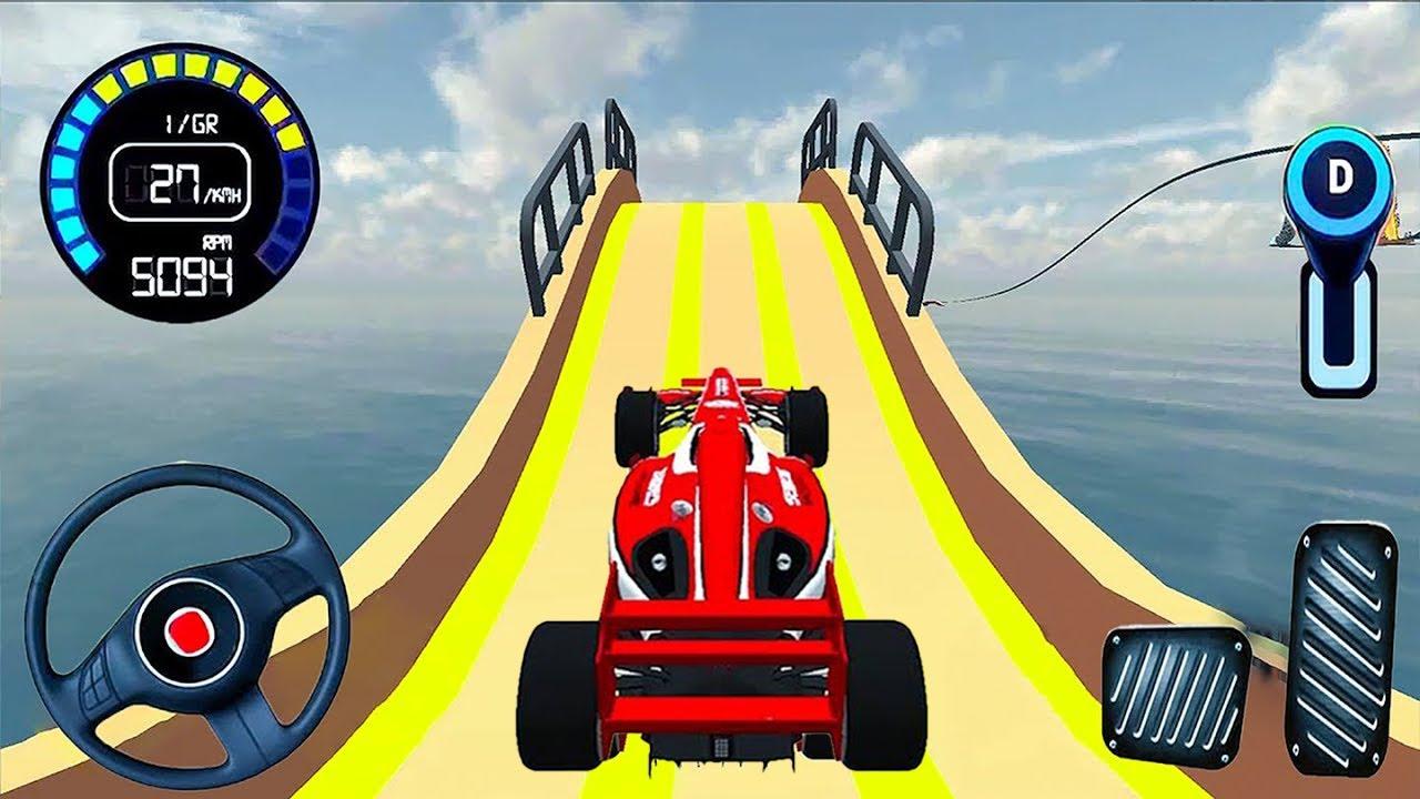 Mega Ramp Car Stunt - Formula Car Racing Game 2020 #1 - real car racing Android iOS Gameplay