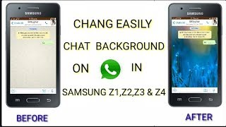 Download lagu How to change Whatsapp chat background on Samsung Z1, Z2, Z3 & Z4 Very Easily by Technical Institute