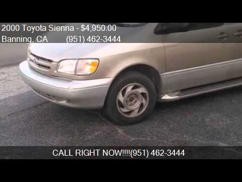2000 Toyota Sienna XLE for sale in Banning, CA 92220 at Affo