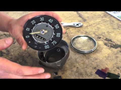 Classic VW BuGs How to Quickly Clean Restore Beetle Ghia Bus Speedometer