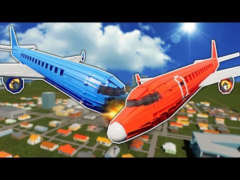 MASSIVE PLANE COLLISION OVER LEGO CITY! - Brick Rigs Gameplay - Lego City Toy Crash