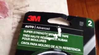 Reapplying 3m double sided tape to Red Honda badges