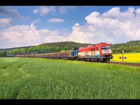 Nicht immer schön, aber selten - Güterzüge und Wetter im Mai
