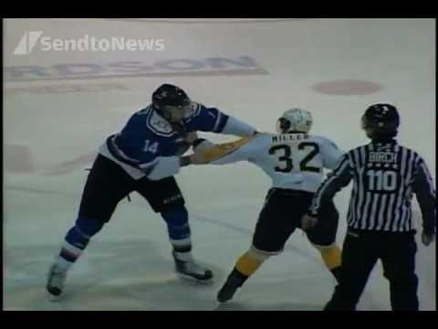 Hockey Fight: Mike Simpson vs Ryley Miller