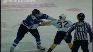 Hockey Fight: Mike Simpson vs Ryley Miller