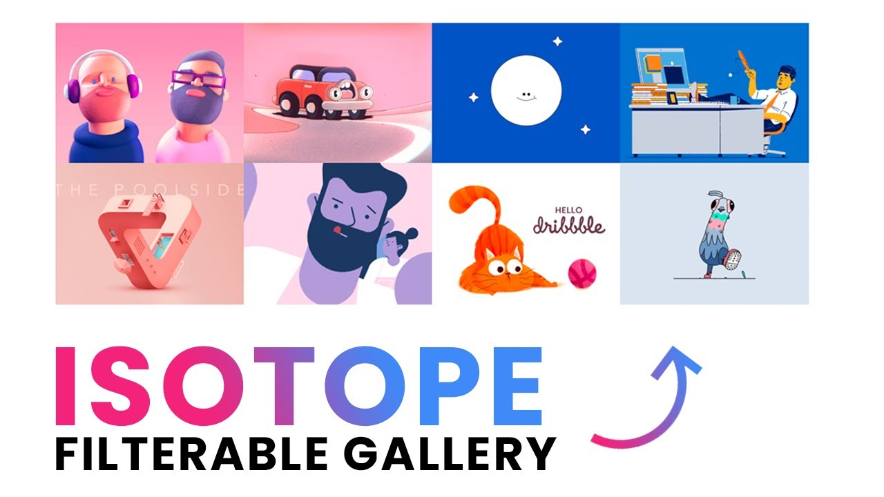 How to Make Modern Isotope Filter Gallery Effect in HTML, CSS and JavaScript