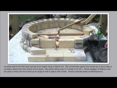 detailed how to build an authentic pompeii pizza oven part 2 of 4 building the dome