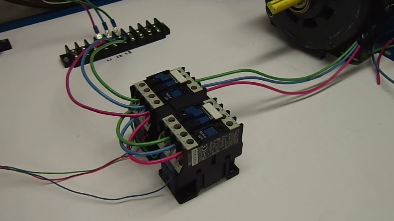 reverse 3 phase motor contactor wiring