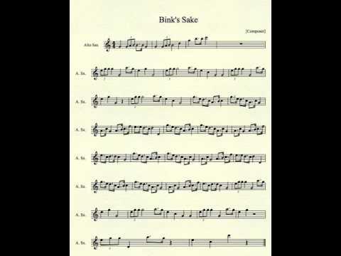 Bink's Sake for Alto Sax