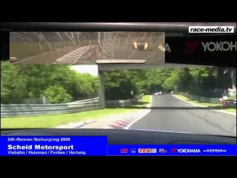 24h Race Nurburgring Nordschleife 2009 BMW M3 GTS Onboard Start Eifelblitz first Lap