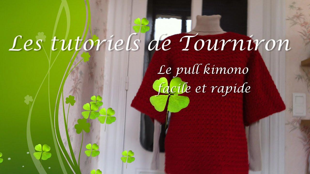 Fabulous Tutoriel crochet Le pull kimono facile et rapide - YouTube KT77