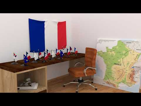 Himno y banderas de Francia | France flags and anthem