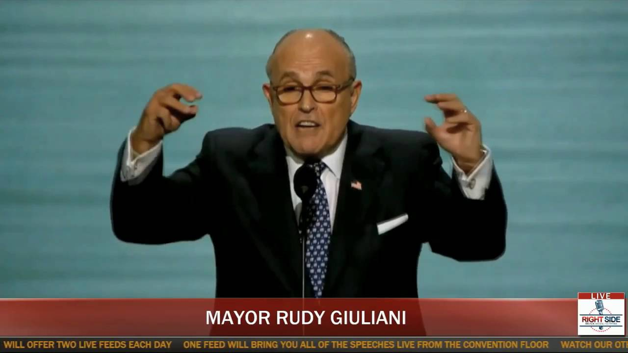 Supercut Of Rudy Giuliani Yelling At The Rnc Convention Youtube