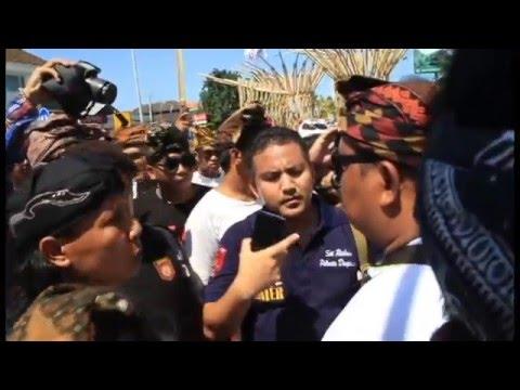 Bali Tolak Reklamasi (Detik detik pemblokiran simpang Pura Tanah Kilap dan simpang Dewa Ruci) HD