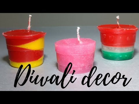 DIWALI DECOR (pt 2)    DIY CANDLES AND NIGHT LAMPS